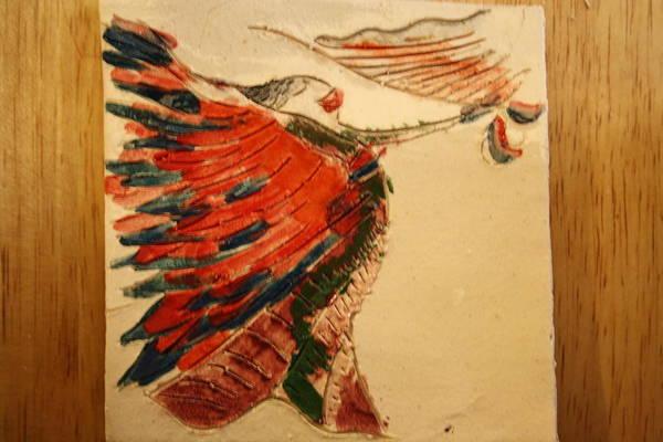 Ceramic Art - Voila - Tile by Gloria Ssali