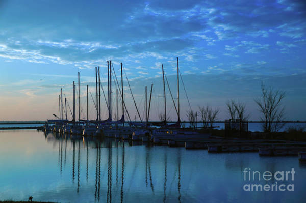 Photograph - Voiliers Bleu Matin by Diana Mary Sharpton