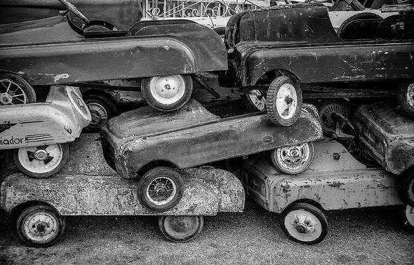 Wrecking Yard Photograph - Voitures Miniatures by Roger Lorenz