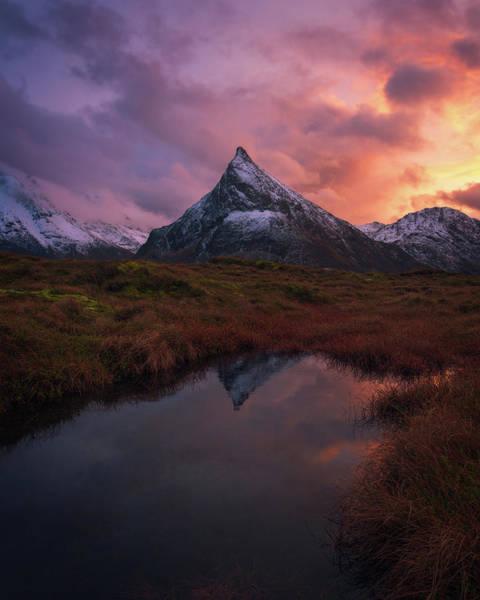 Norway Photograph - Volandstinden On Fire by Tor-Ivar Naess