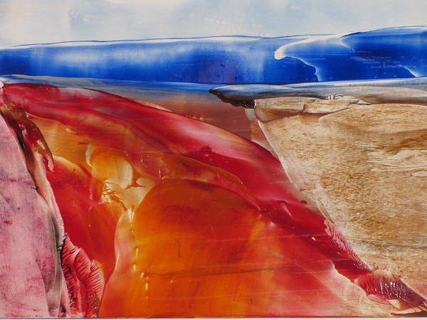 Overflow Painting - Volcanic Flow by Gina Reynolds