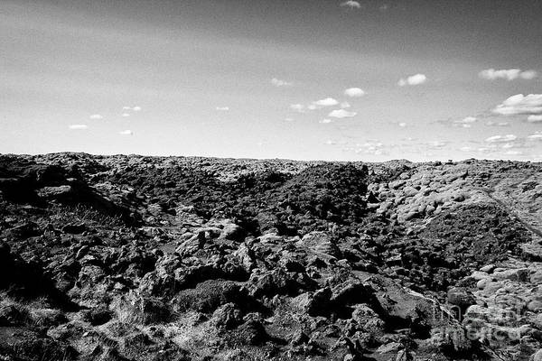 Wall Art - Photograph - volcanic lava boulder fields with some moss growth southern Iceland by Joe Fox