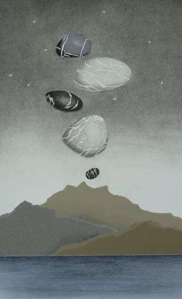 Lava Drawing - Volcanic Pebbles II by Nancy Hilgert