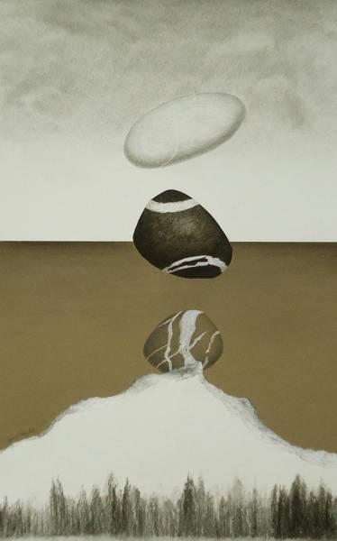 Lava Drawing - Volcanic Pebbles IIi by Nancy Hilgert