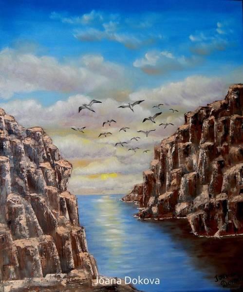 Wall Art - Painting - Volcanic Rocks By The Sea by Ioana Dokova