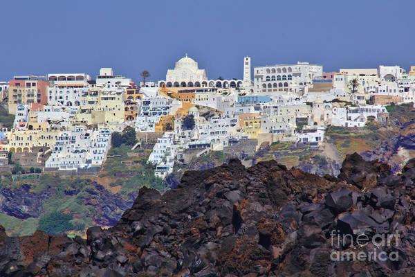 Photograph - Volcanic Santorini by Jeremy Hayden