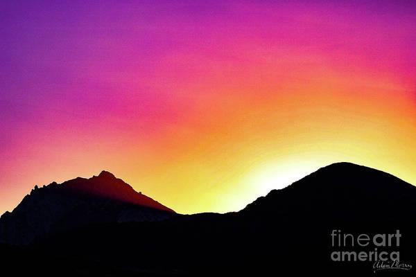 Volcanic Sunrise Art Print