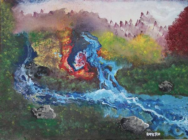 Painting - Volcano Delta by Antonio Romero