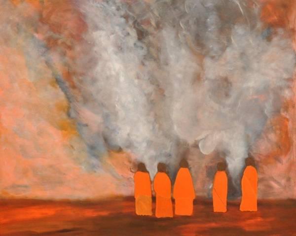 Wall Art - Painting - Volcano In Iceland by Aviva Moshkovich
