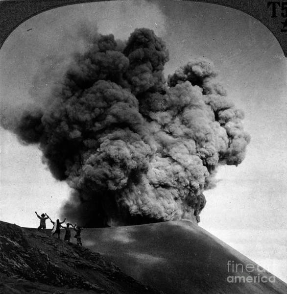 Photograph - Volcano: Java, 1910 by Granger