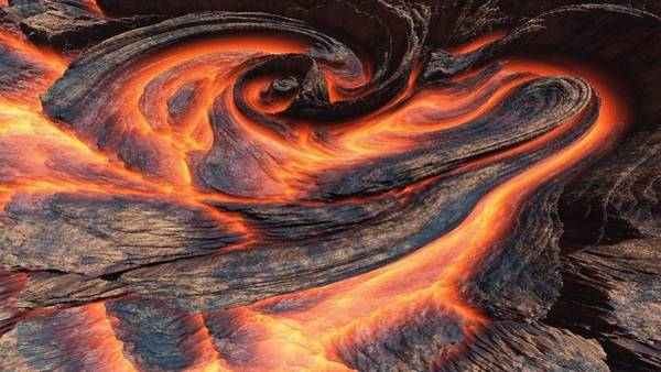 Curve Digital Art - Volcano by Maye Loeser