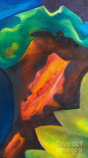 Lava Drawing - Efesto's Lips On Volcano Mouth by Alessandra Bisi