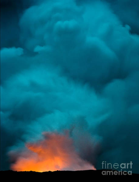 Volcano Smoke And Fire Art Print