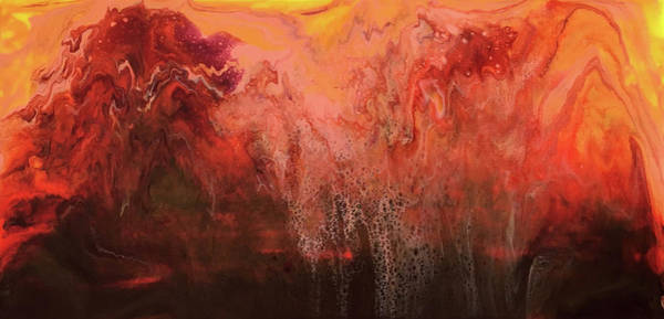 Wall Art - Painting - Volcano Sunset by Alynne Landers