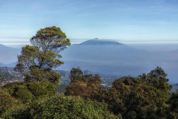 Rauch Wall Art - Photograph - volcanoes in the fog - Java by Joana Kruse