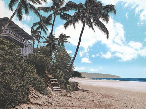 Oahu Painting - Volcom House Pipeline by Andrew Palmer