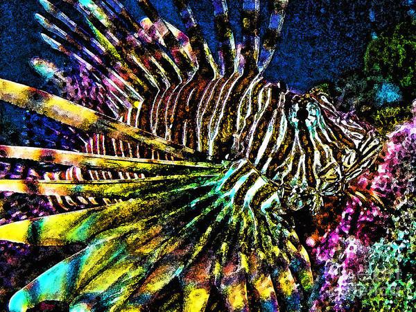 Photograph - Volitan Lionfish by Jeff Breiman