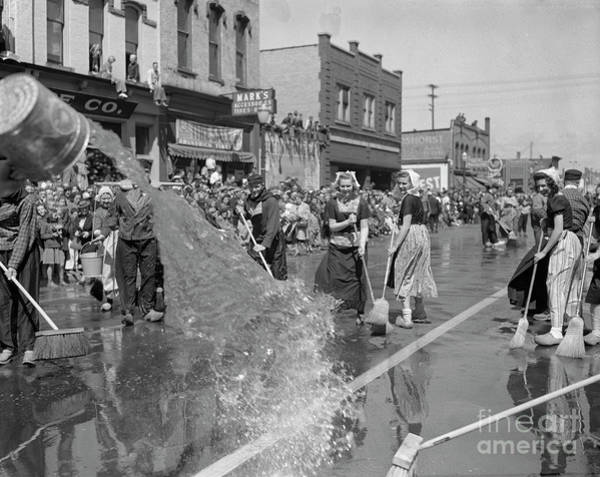 Wall Art - Photograph - Volksparade Holland Michigan Street Cleaning 1946 by The Harrington Collection