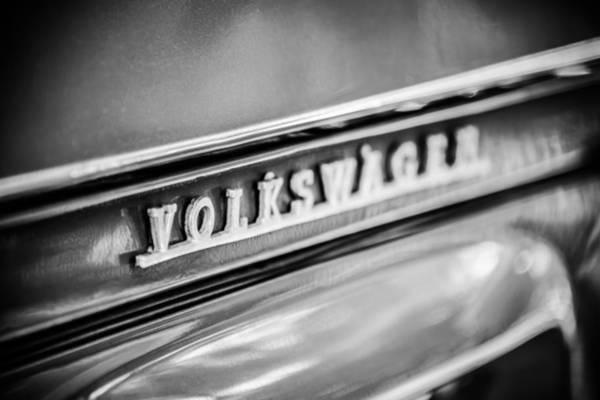 Wall Art - Photograph - Volkswagen Vw Emblem -0150bw by Jill Reger