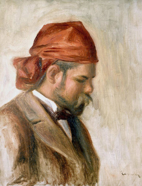Painting - Vollard With A Red Scarf by Auguste Renoir