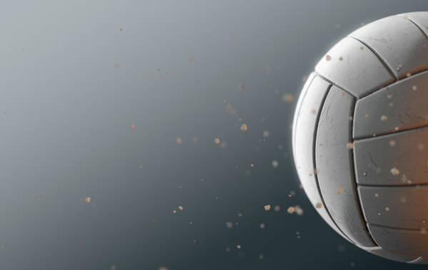 Wake Up Digital Art - Volleyball In Flight by Allan Swart