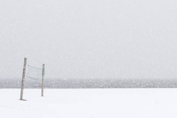 Photograph - Volleyball Snow Net Minimalist by Terry DeLuco