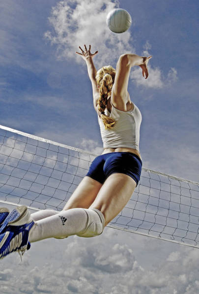 Spikes Photograph - Volleyball by Steve Williams