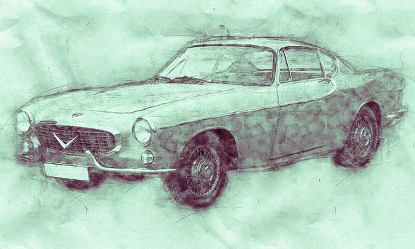 Wall Art - Mixed Media - Volvo P1800 - Sports Car 3 - Automotive Art - Car Posters by Studio Grafiikka