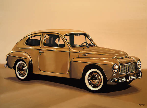 Oldtimer Wall Art - Painting - Volvo Pv 544 1958 Painting by Paul Meijering