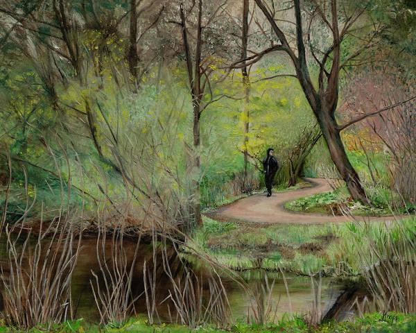 Painting - Vondelpark, Amsterdam by Kathy Knopp