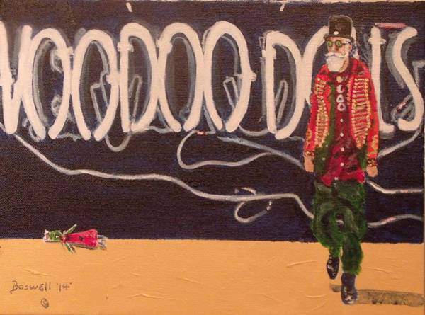 Voodoo Doll Painting - Voodoo Dolls by Allan Boswell