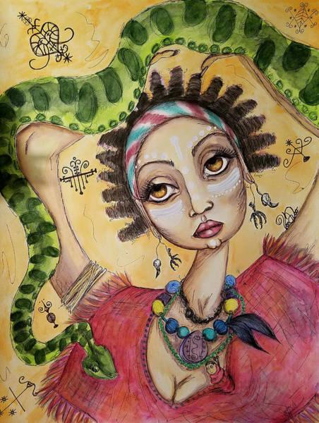 Voodoo Doll Painting - Voodoo Queen by Sondra Hefner - NautyCrow Studio