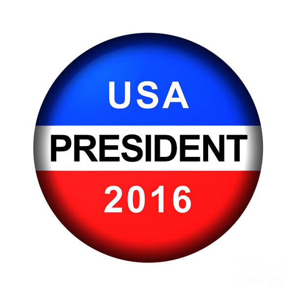 Digital Art - Vote Button President by Henrik Lehnerer