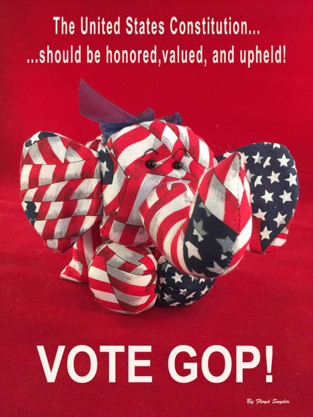 Gop Photograph - Vote Gop by Floyd Snyder