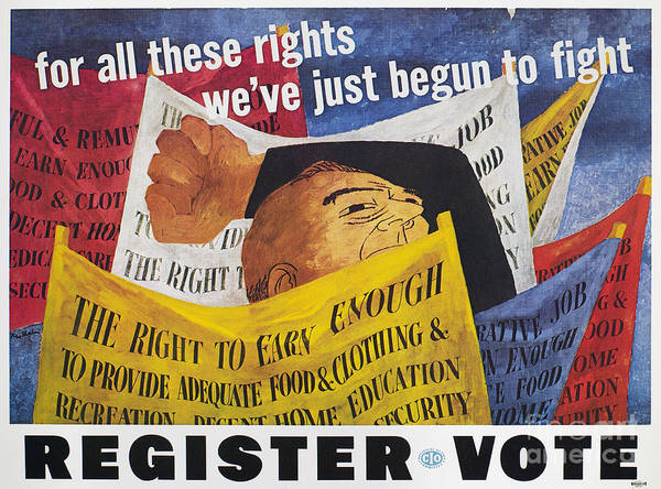 Photograph - Voter Registration Poster by Granger
