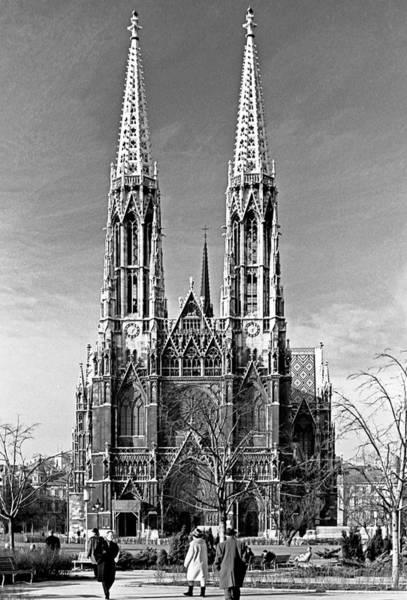 Photograph - Votivkirche Cathedral Vienna 1968 by Lee Santa