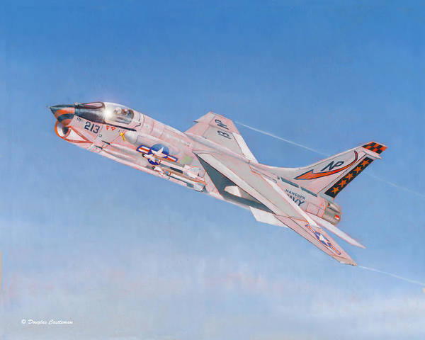 Painting - Vought F-8j Crusader by Douglas Castleman