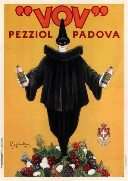 Office Decor Mixed Media - Vov Pezziol - Italian Liquer - Padova, Italy - Vintage Advertising Poster by Studio Grafiikka