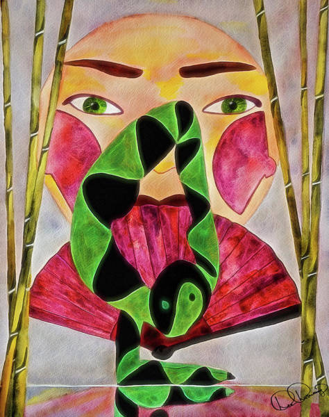 Painting - Vrschikasana by Dee Browning