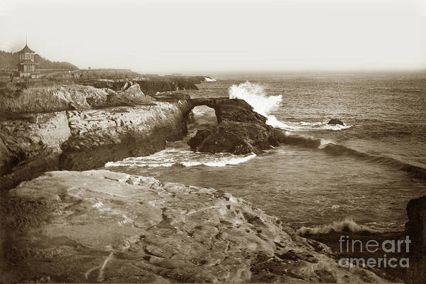 Photograph - Vue De L Eau Street Car Station, West Cliff Drive, Santa Cruz  by California Views Archives Mr Pat Hathaway Archives