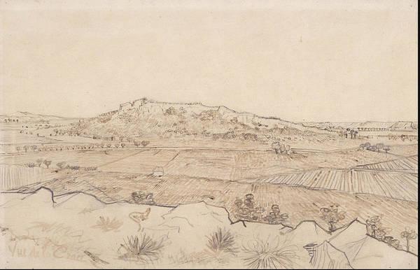 Sand Creek Painting - Vue De La Crau The Plain Of La Crau 1888 by Vincent Van Gogh