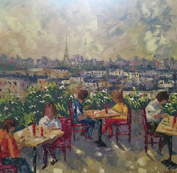 Painting - Vue De Paris by Frederic Payet