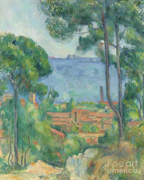 Southern France Painting - Vue Sur L Estaque Et Le Chateau D If by Paul Cezanne