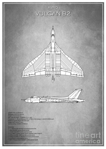 Wall Art - Digital Art - Vulcan Bomber B.2 by J Biggadike