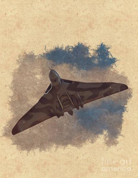 Bomber Painting - Vulcan Bomber by Esoterica Art Agency