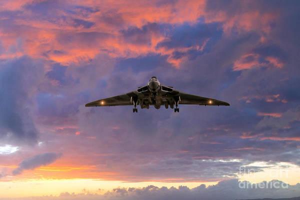 Falklands Digital Art - Vulcan Bomber by J Biggadike