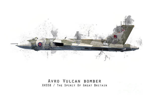 Wall Art - Digital Art - Vulcan Bomber Sketch - Xh558 by J Biggadike