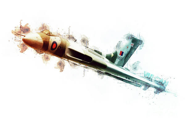 Wall Art - Digital Art - Vulcan Bomber - Tech by J Biggadike