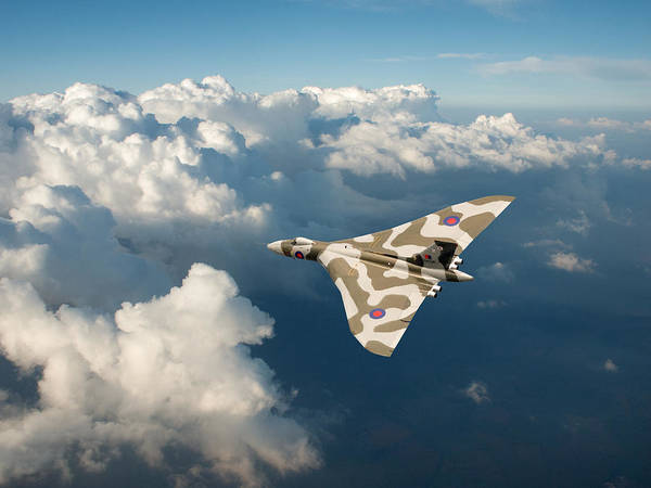 Avro Vulcan Wall Art - Photograph - Vulcan Catching The Light by Gary Eason