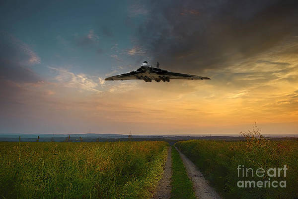 Falklands Digital Art - Vulcan Daylight by J Biggadike